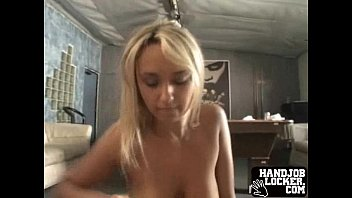 Blonde amateur big tit handjob