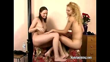 Two teen lesbians play domination
