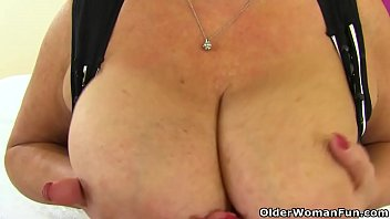 uk gilf alisha rydes gets herself in the.