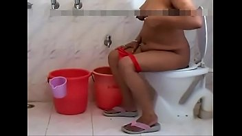 1 ginormous titties nude desi bhabi sitting commode.