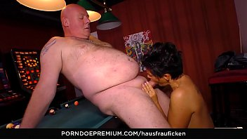 hausfrau ficken ndash_ naughty grandmother slurps jizm in.