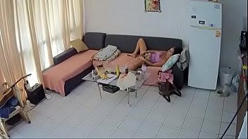 security web cam - mature dark-haired.
