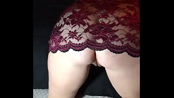 real inexperienced wifey flashing in underwear and finger-kittling.