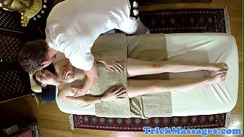 Deepthroating massage amateur gets filmed