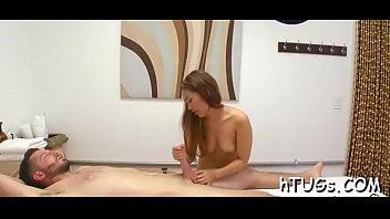 Chap cums on massage session