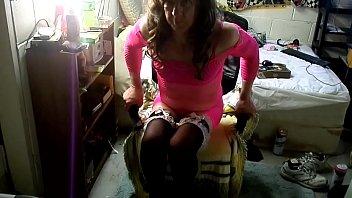 pinkish sundress ebony   nylons  princess heelsmp4