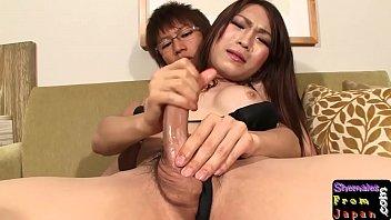japanese trans stunner assfucking her boyfriend