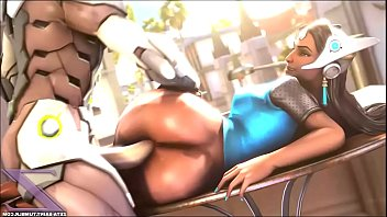 Overwatch Symmetra get fucked Hard during 20 minutes blowjob, titsjob and facial