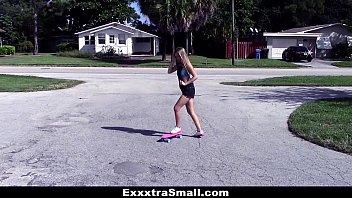 exxxtrasmall - little skater teenie gets wooly vulva boned