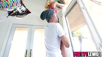 Petite blonde Kenzie Kai seduces bffs brother