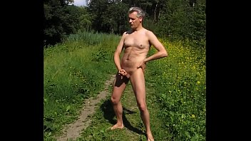 Jerk off outdoor