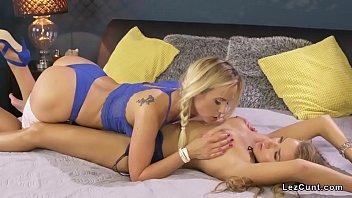 Super hot tight lesbians licking